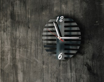 Industrial wall clock 10x10 inches, Unique wall clock, Plexi glass wall clock, New home housewarming gift, Unique wedding gift for couple