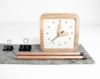 Desk Clock, Rustic clock, Wood Clock, Desk Clocks Gifts, Table Clock, Desk Gift For Her, Desk Gift Wooden, Desk Decor, Desk Decor Clock