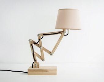Desk Lamp - Bedside Lamp - Wood Lamp - Wooden Lamp - Table Lamp - Reading Lamp - Office Lamp - Lamp Shade - Industrial Lamp - Lampshade