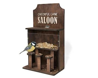 Personalized birdfeeder Wood birdfeeder Bird feeder Garden gifts Bird gifts