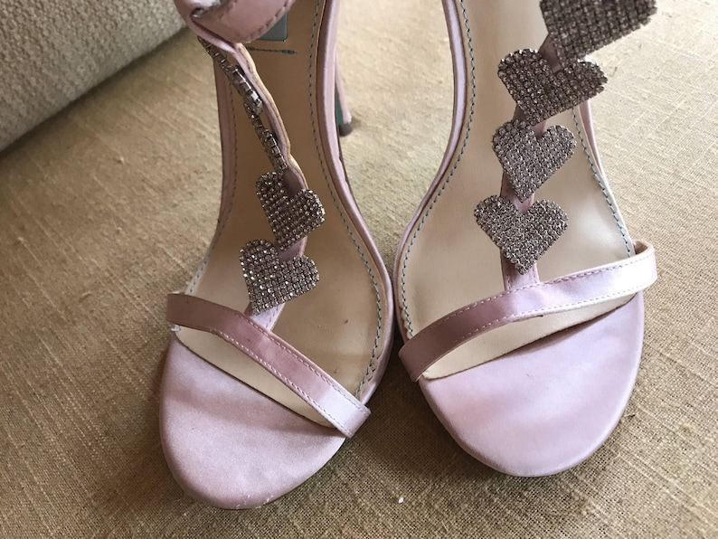 1921c2d035f0 10  Blush Pink Organza Ruffle Bridal Shoes   Open Toe Strappy