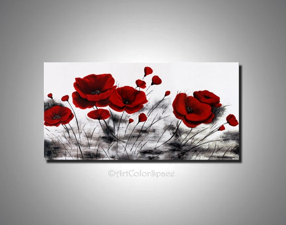 Black friday sale poppies painting poppies art red poppy etsy image 0 mightylinksfo