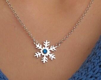 12122b3110de Copo de nieve collar   Collar copo de nieve invierno   Bonito copo de nieve  collar elegante piedra cristal swarovski   Copo de nieve piedra