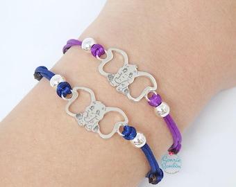 Dumbo Elephant Dumbo bracelet | Dumbo Disney Silver bracelet | Sterling Silver Dumbo Cord bracelet | Dumbo elephant bracelet colors / Dumbo
