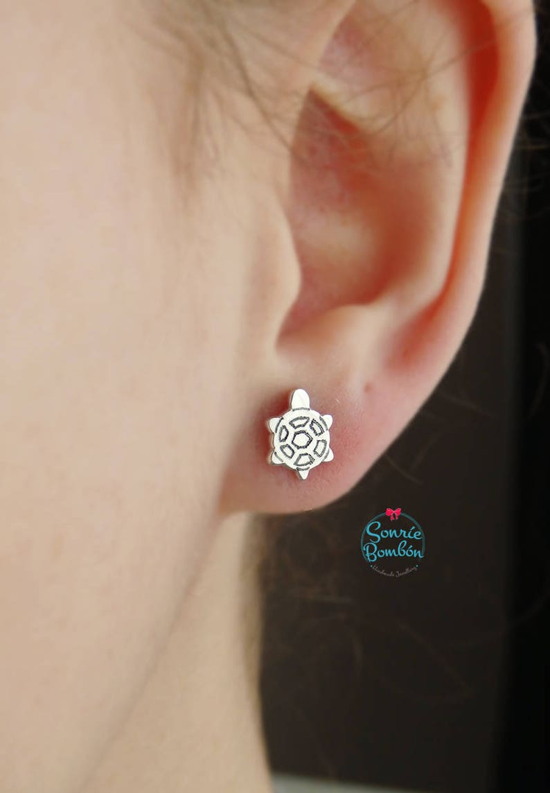 Turtle Silver earrings  Silver turtle earrings animals  Turtle Animal jewelry earrings  Turtle Reptile animal earrings sterling silver
