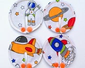 Cosmos, rocket, astronaut SET of 3,6,8 or 10 feeding tube pads, PEG covers, Gtube pads, buttons G-tube mic-key button, podkładki PEG, bamboo
