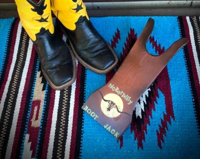 Western boot jack, Hickerbilly boot jack, retro, custom, cowboy boot jack