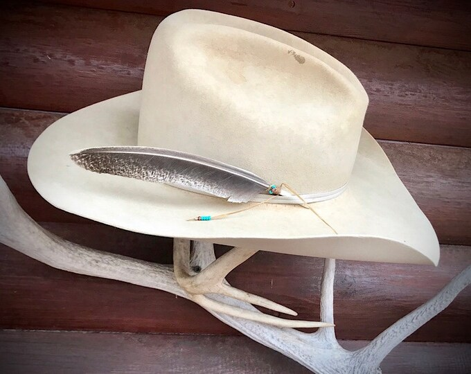 Cowboy hat feathers, rare find, wild turkey feathers jake tails, small unique hat feather for cowboy and cowgirl hats, retro western wear