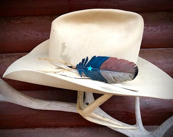 1327ee2657db4 Americana cowboy hat feathers in new mini covert feather