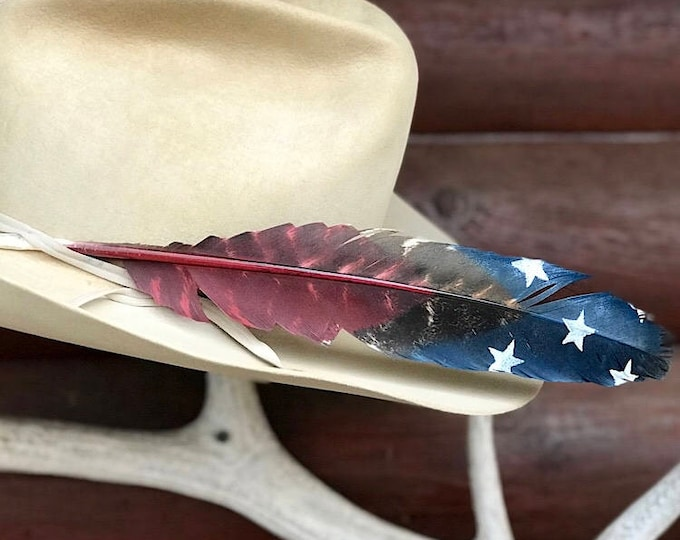 Custom hat feather, cowboy or cowgirl hat feather, western hat, bull rider, bull riding