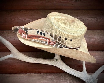 Brazilian cowboy hat feather Brazil flag feather brazilian  badeaedfa16