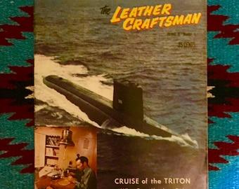 Vintage, 1960 The Leather Craftsman, magazine, volume IV no.5, antique leather craft patterns, leather ideas, leather craft instruction