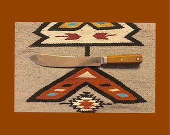 Vintage Winchester butcher knife, trade mark 1037, 10 inch butcher knife blade