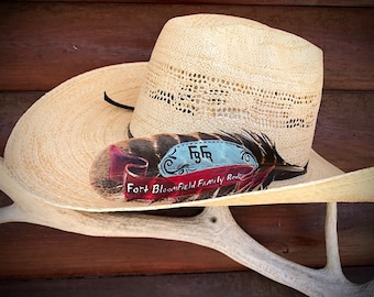 78695b2c877 Custom hat feather awards western hat feathers american hat