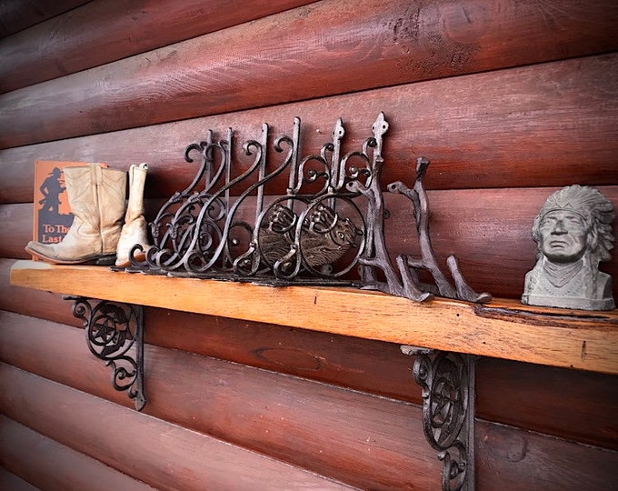 Vintage style mantel and shelf brackets, iron shelf and mantel brackets, many styles to choose from, rustic decor, western decor, farmhouse
