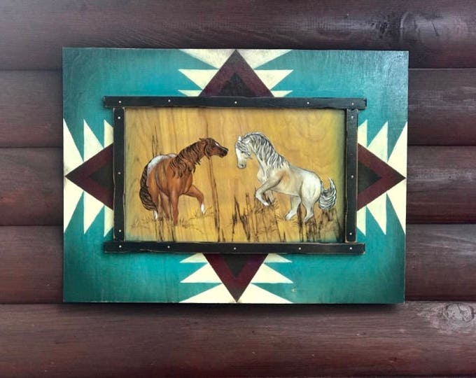 Original acrylic painting on wood by Kathy Adamson, western art