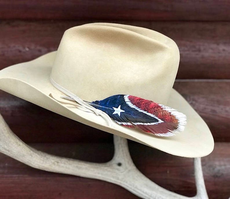 Mini cowboy hat feather custom western hat feather small  f78d6e0bf2f