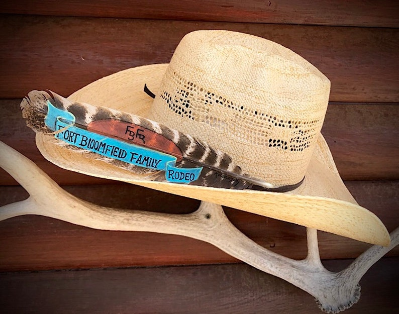 413a857ebe9b1 Custom award hat feathers hat feathers cowboy hat feathers