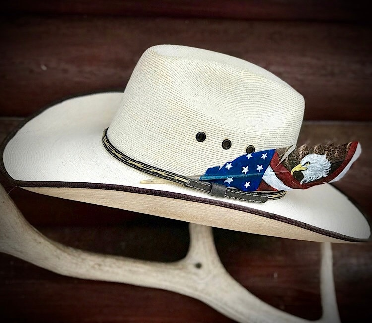 New mini size all American cowboy hat feather cea1050a637