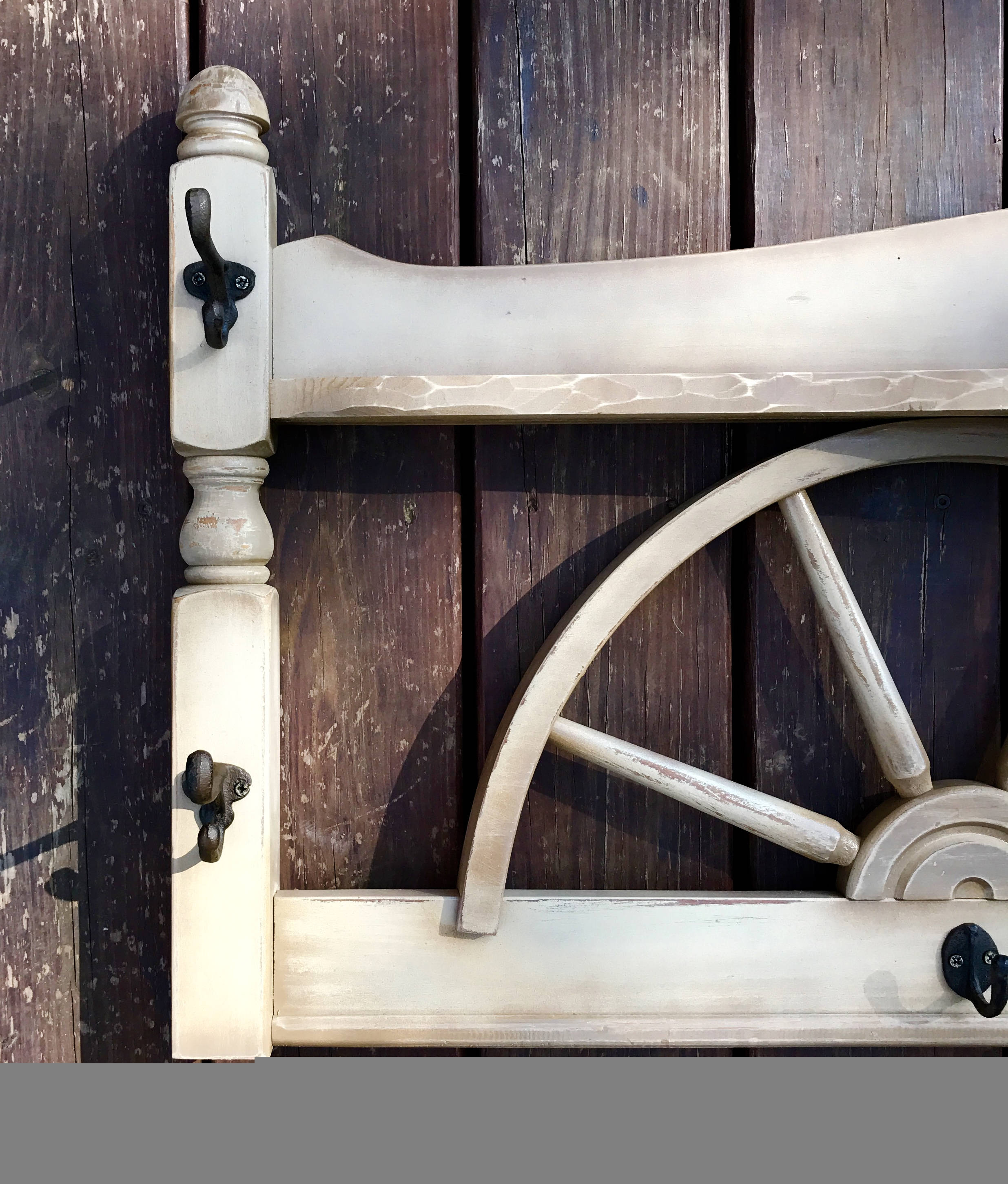 Vintage Style Entrance Hall: Vintage Wagon Wheel, Western Decor, Shelf, Hat, Coat Rack