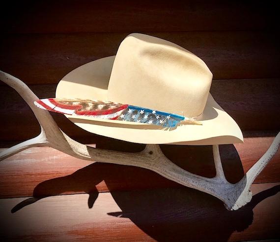bluegrass music western swing music western music cowgirl hat Custom hat feather cowboy hat feather guitar hat feather feather art