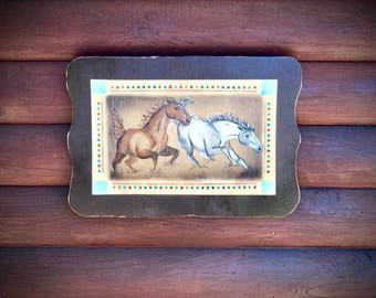 Original acrylic western painting, horse art by Kathy Adamson, western decor
