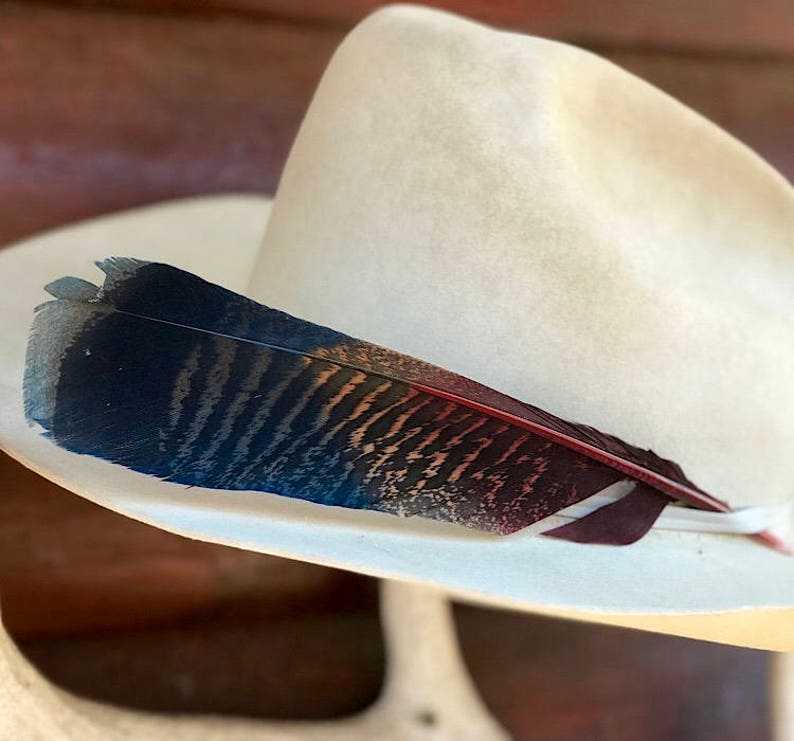 patriotic natural tail feather western folklore Custom cowboy hat feather western hat feather feather art mane feather western art