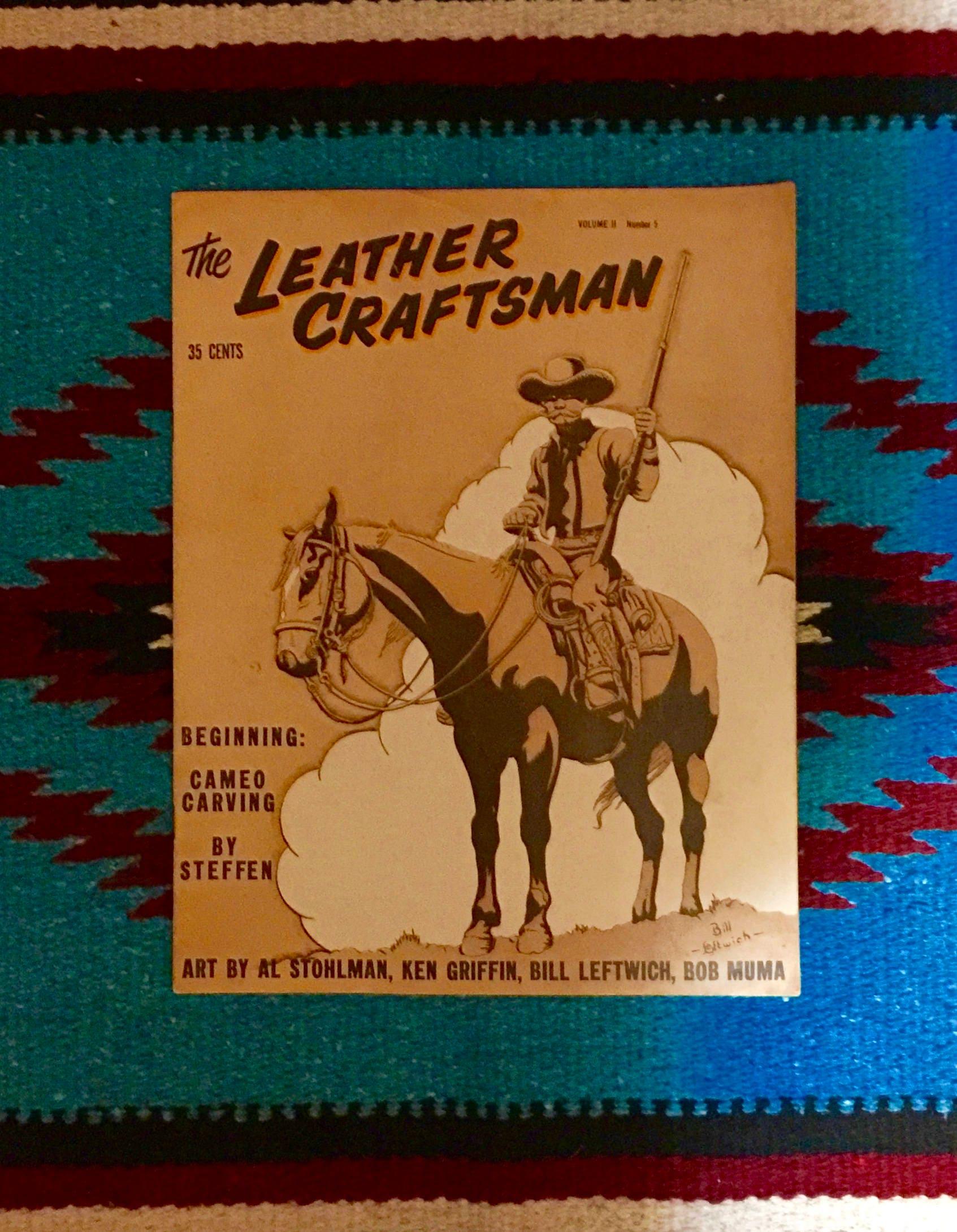 Vintage 1958 The Leather Craftsman magazine, Vol  II No  5, July/Aug