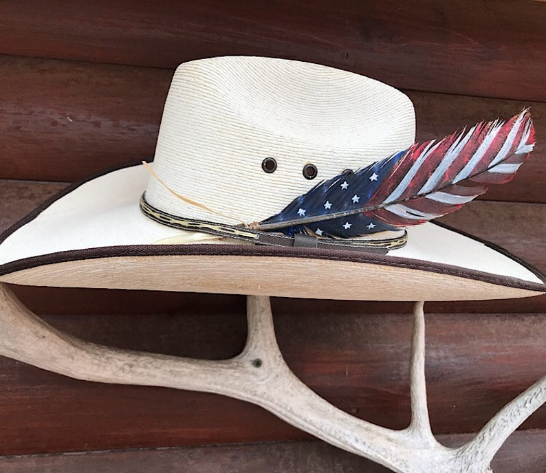 1fbcad93f25 American made hat feather custom cowboy hat feather medium