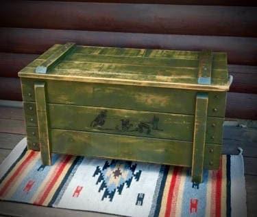 Vintage Western Trunk, Western Coffee Table, Rustic Trunk, Toy Box, Original