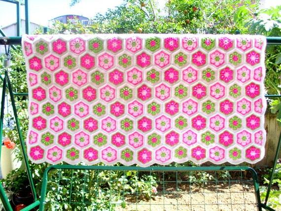 Handmade Baby Blanket Granny Square Afghan Blanketcrochet Etsy