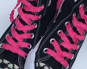 a4ef67dfd7f4 Dark Pink Shoelaces. 3 8