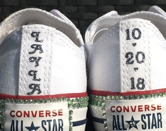 0adb3d2c806 Iron On Decals for rear seam of Converse Shoes. Customize with a Custom  Date