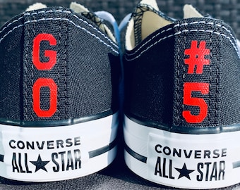 Iron On Decals for rear seam of Converse Shoes. DIY