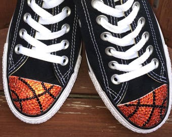 Chaussures De volley ball Bling Converse. Conversation personnalisée pour femmes. Cadeau de volley ball pour des joueurs, cadeau d'entraîneur de