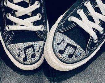 Custom Bling Converse Shoes Shoelaces Socks and by TrickedKicks