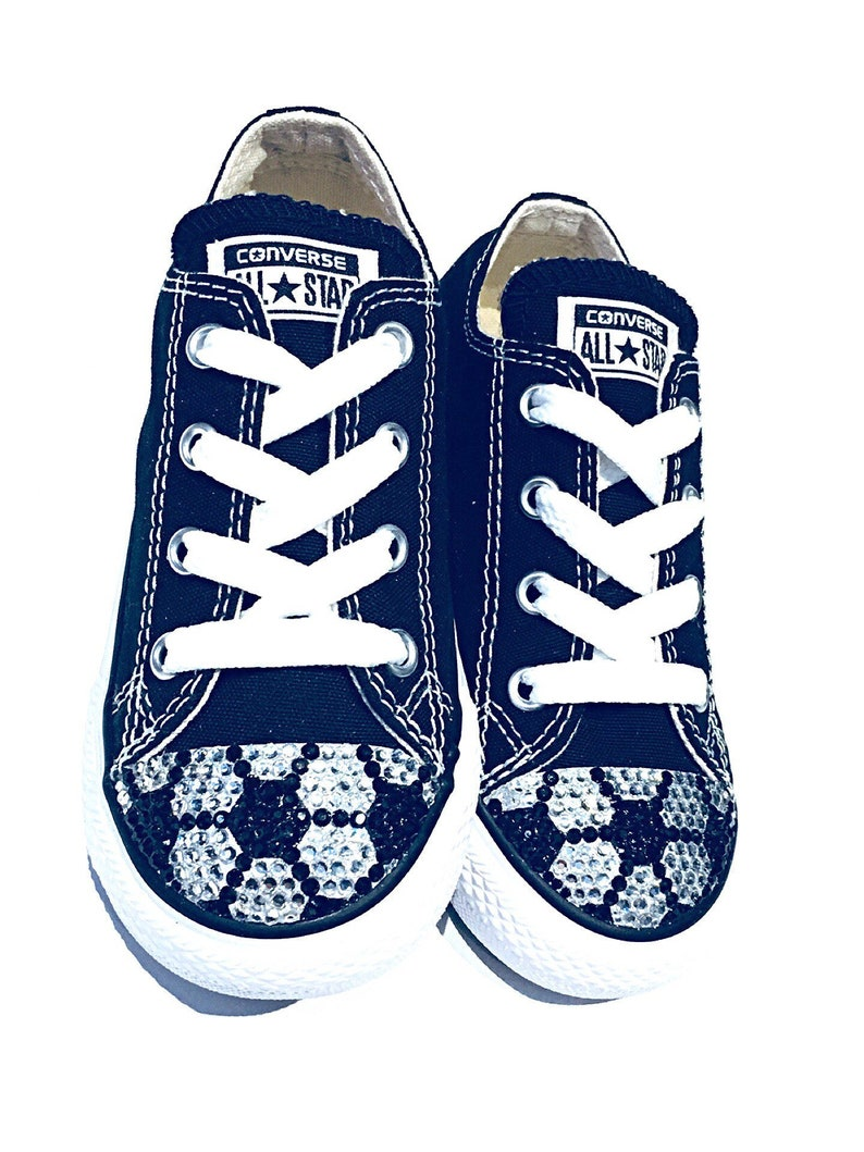 52dc550f65a7 Bling Converse Soccer Shoes. Custom Made Bedazzled Converse