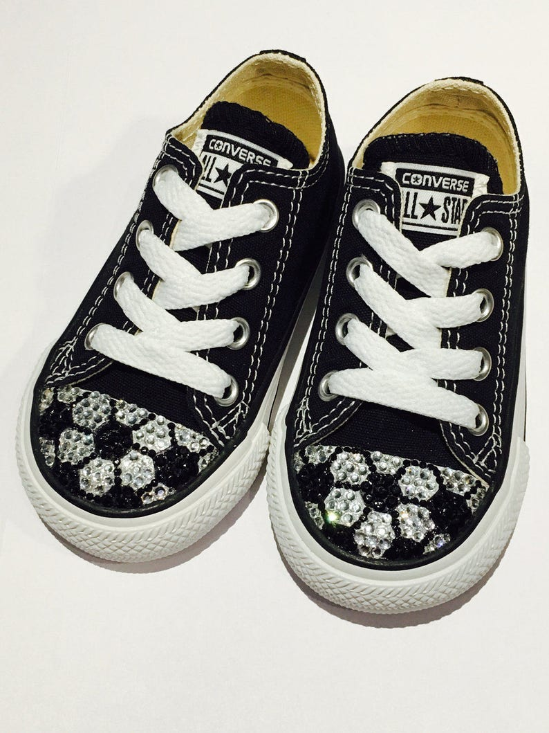 43e64fc4f4c5 Bling Converse Soccer Shoes. Custom Made Converse Girl s
