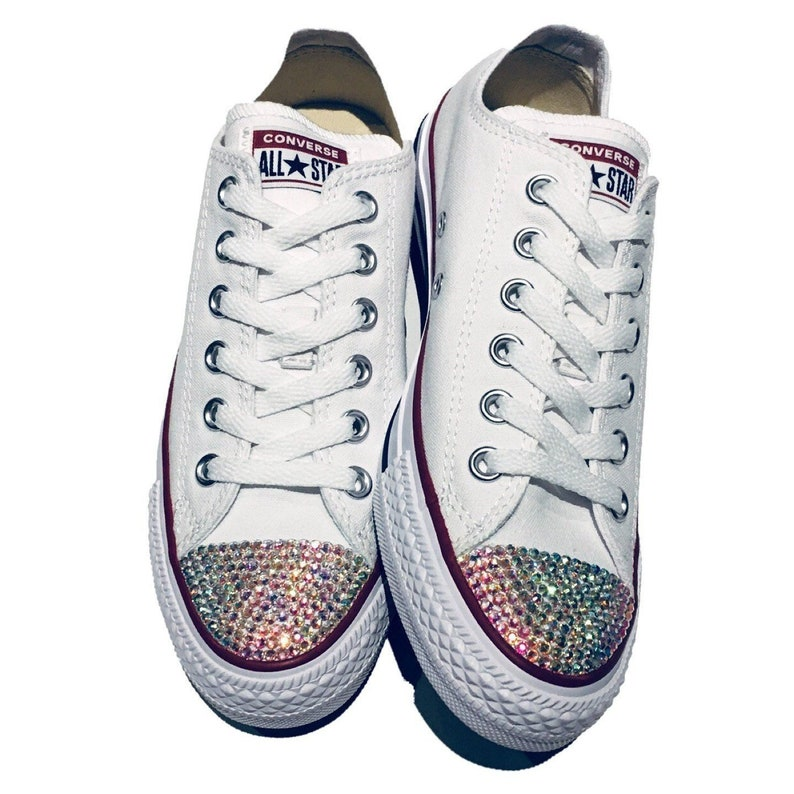 39003d92305a Custom Converse Bedazzled Shoes. Unicorn Rhinestone Bling.
