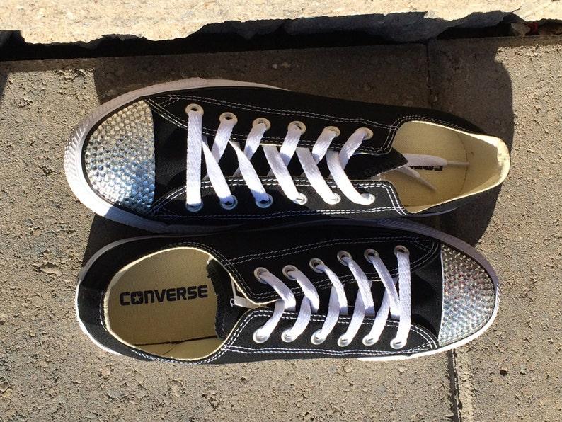 58cdf1ce1835e Converse strass Bling chaussures. Chaussures enfant haut bas.