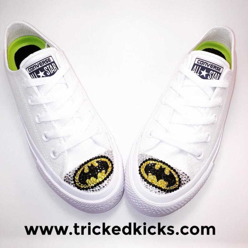 eb0b17a5e87e Batman Bling Converse Shoes. Batman Custom Converse. Dress