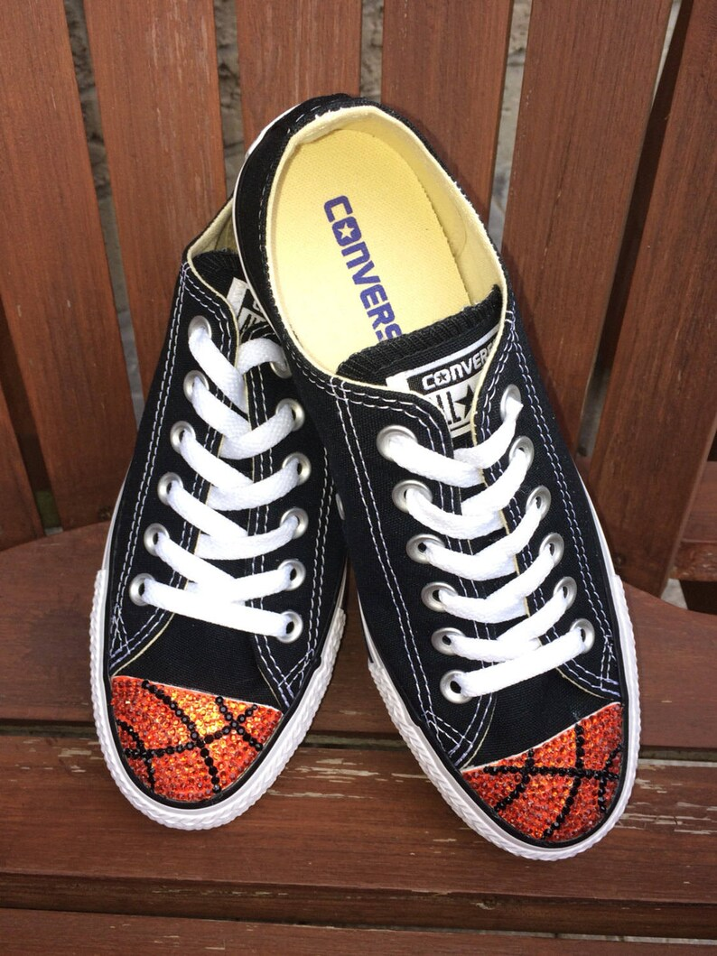 2048ee32747 Basketball Shoes w  Rhinestone Bling. Basketball Converse