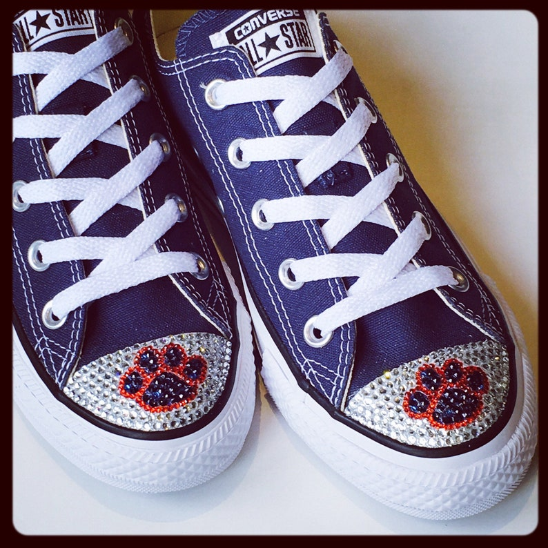 23d7db879b4 Dog Cat Paw Print. Women s Custom Converse Shoes. Animal