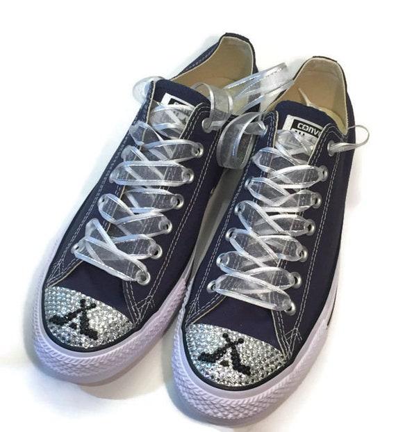 Hockey Goalie Blinged Converse Shoes. Women s Custom  a66de01cd6