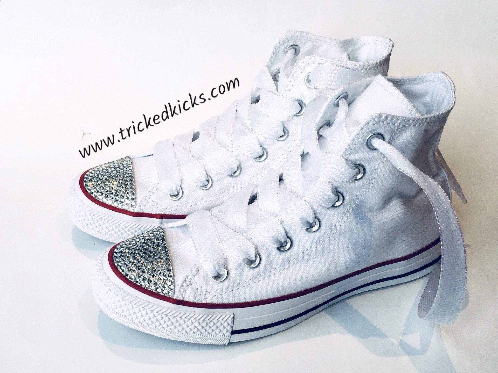 dcd04d0b4b95 Bedazzled Converse Shoes. Rhinestone Bling. Custom Made