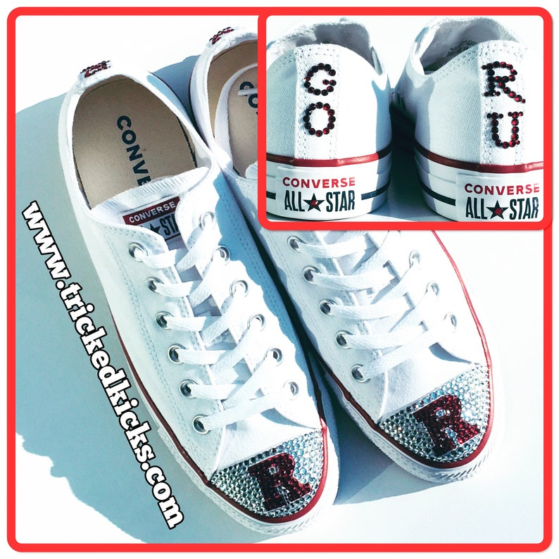 69fbb124e5de College Logo   University Logo Bling Converse Shoes. Womens