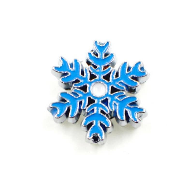 Shoe Charm Snowflake Gift Winter Gift Idea White or Blue Snowflake Charm Shoelace Tag 1 pc 8mm Slide Charm Winter Snowflake Jewelry