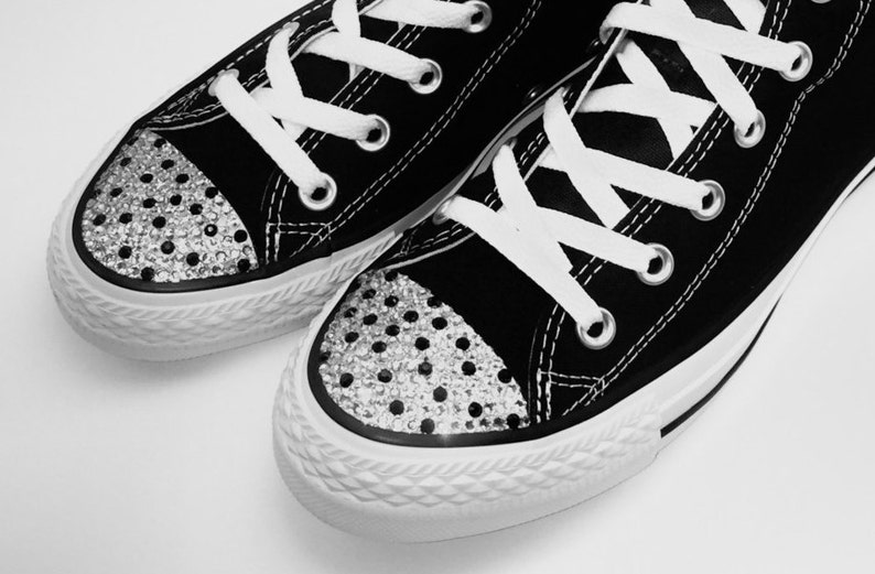 79b598cd8bc7 Bedazzled Converse Shoes. Women s Dot Rhinestone Bling