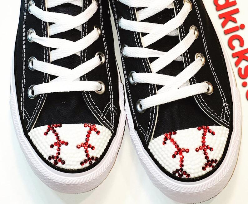 ecf5ccf7f32d77 Baseball Shoes. Custom Converse Shoes. Women s Shoes with