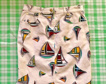 Vintage 80's/90's Escada Sport Sailboats Skirt